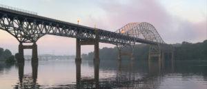 Picture of bridge across the Susquehanna at dawn